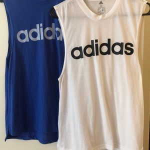 Two Adidas Muscle Tanks